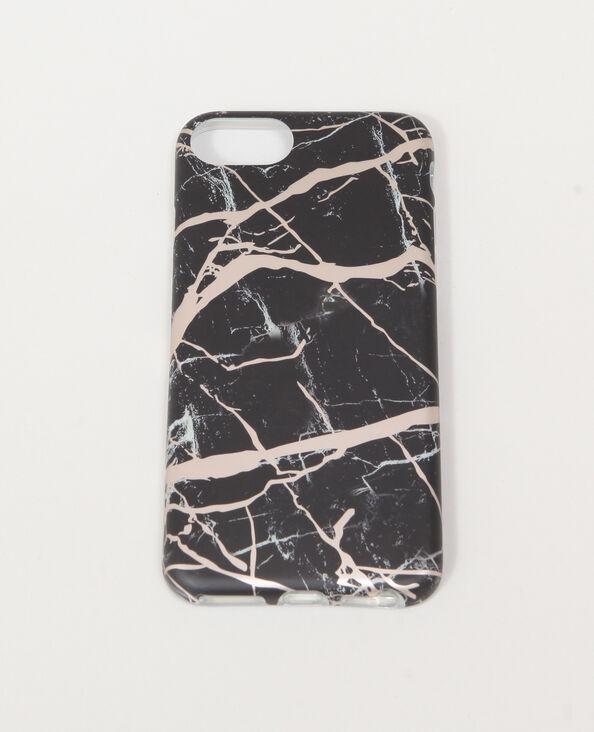 Smartphonehoesje met marmereffect zwart