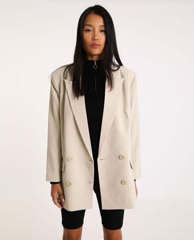 Oversized blazer beige
