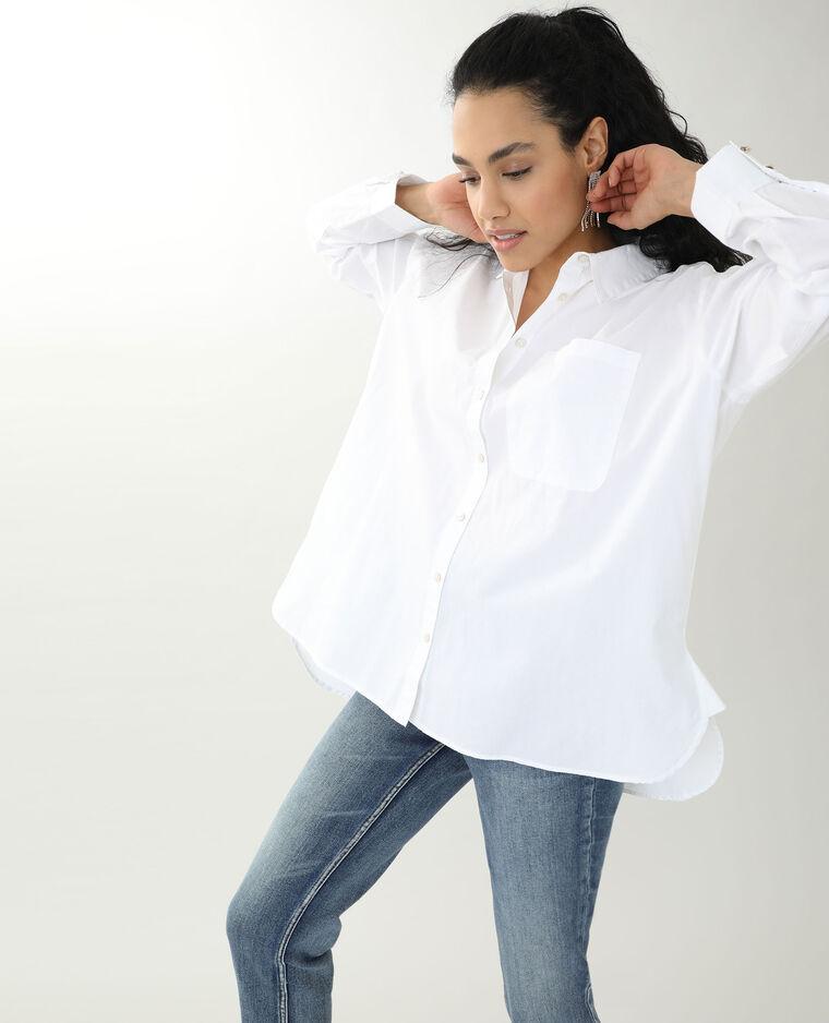 Chemise longue blanc