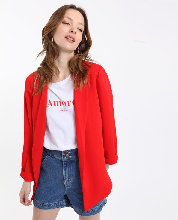 Veste blazer fluide rouge