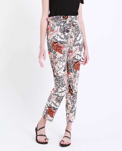 Pantalon à imprimé blanc