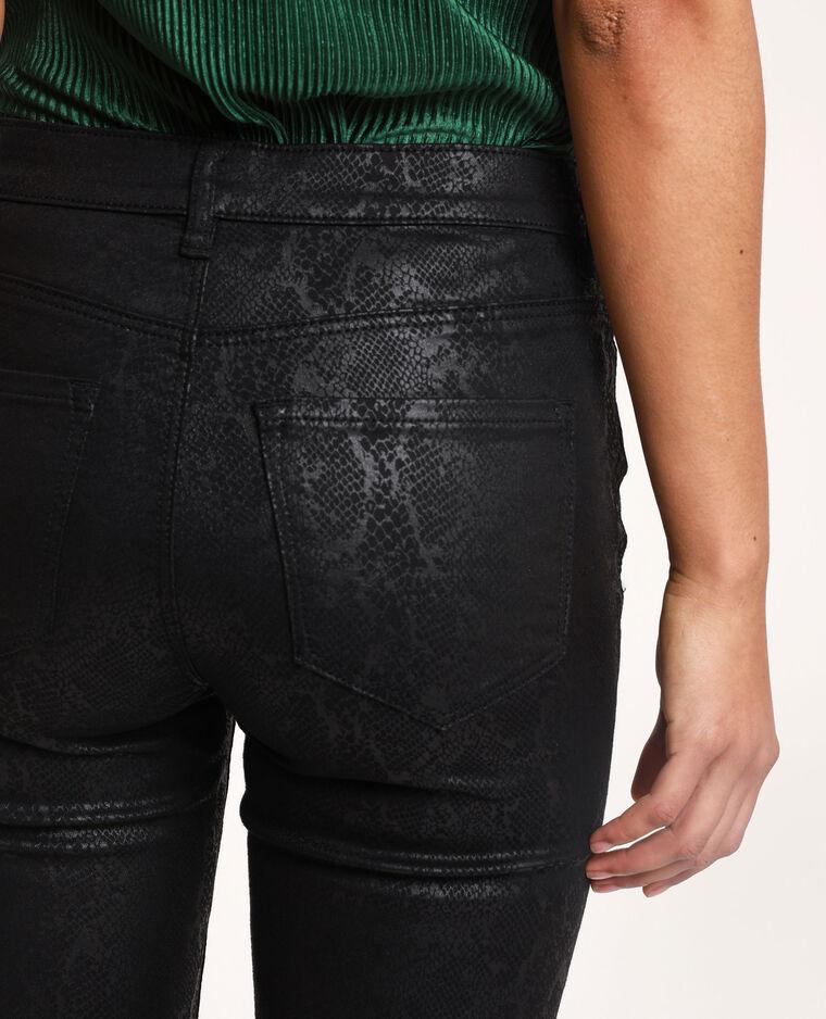 Pantalon python noir