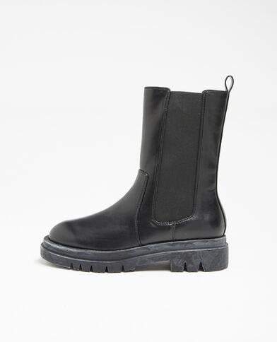 Imitatieleren laarzen zwart