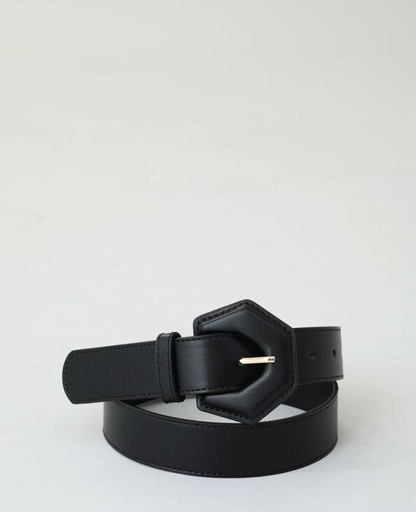 Kunstleren riem zwart