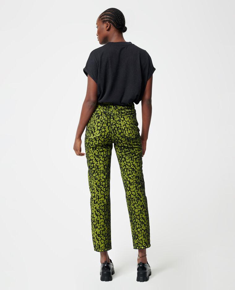 Jeans met hoge taille watergroen - Pimkie