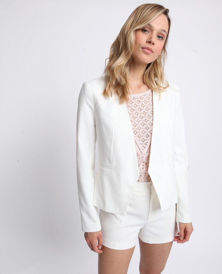 Veste courte blanc