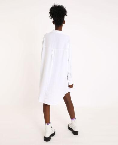 Oversized hemd wit