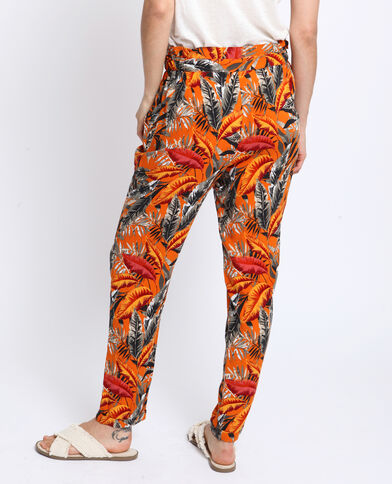 Pantalon à imprimé Orange
