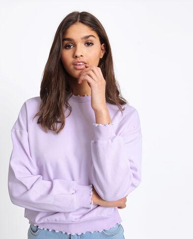 Sweater met opstaande kraag parme