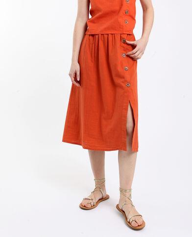 Halflange rok oranje