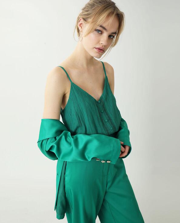 Top plumetis vert