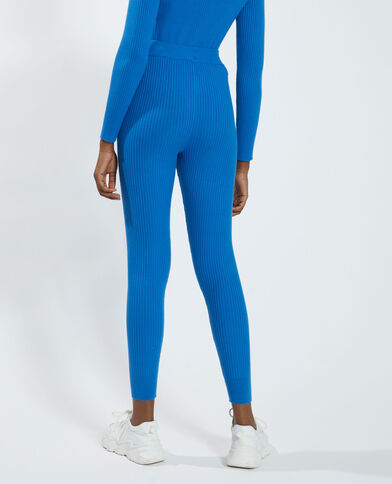 Geribde broek blauw - Pimkie