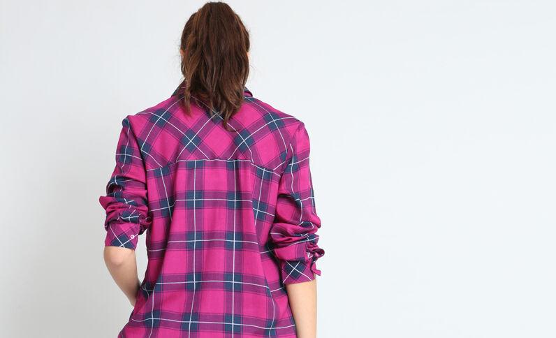Hemd met ruitjes roze