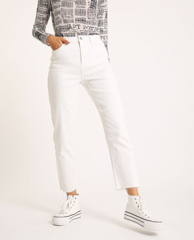 Straight-fit jeans ecru