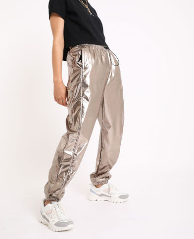 Jogging brillant gris