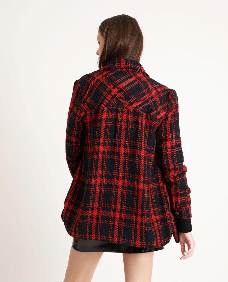 Veste épaisse à carreaux rouge