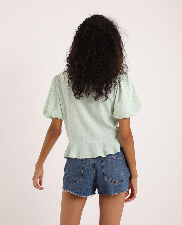 Shirt met fronsjes groen