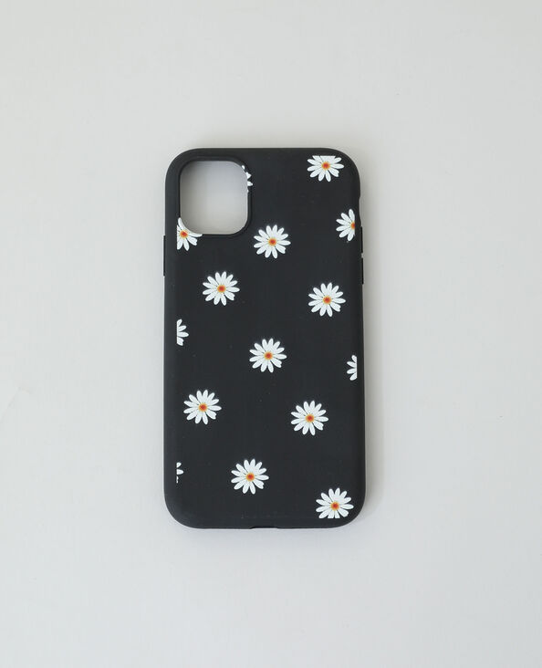 Coque compatible iPhone noir + jaune