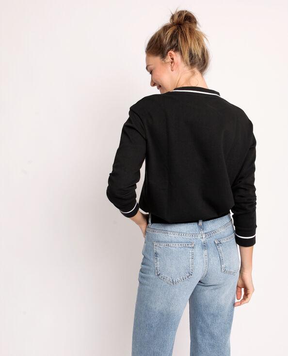 Effen sweater zwart