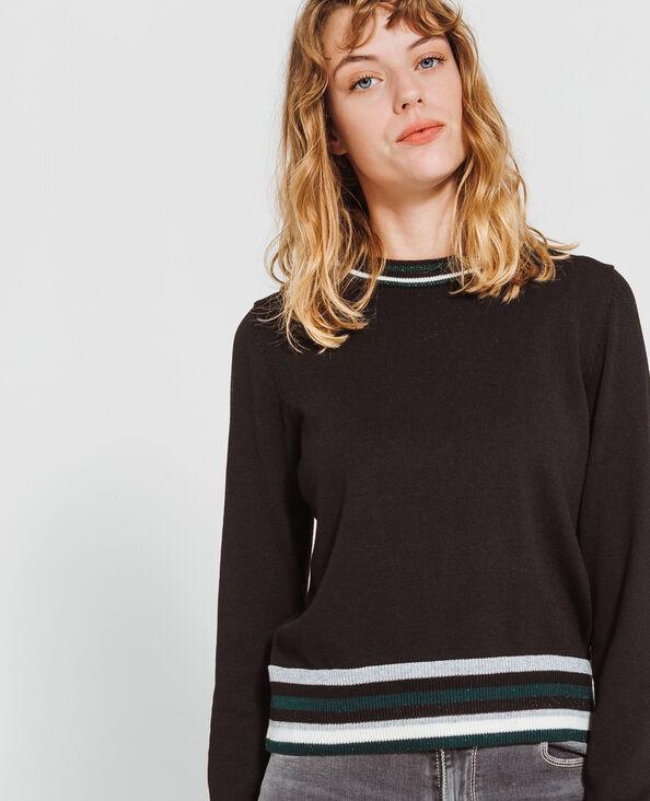 Korte sportieve trui zwart