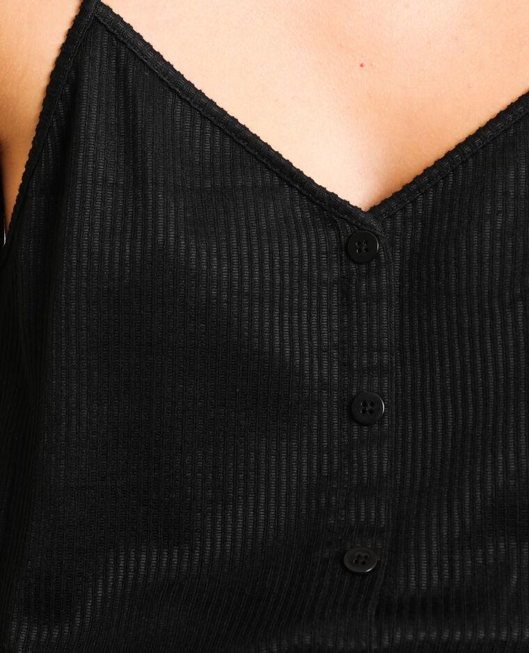 Combishort à fines bretelles noir