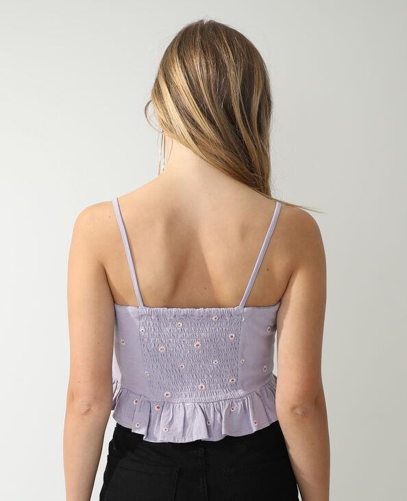 Bloementop violet - Pimkie