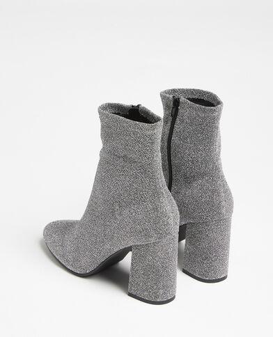 Boots en microfibre gris argenté