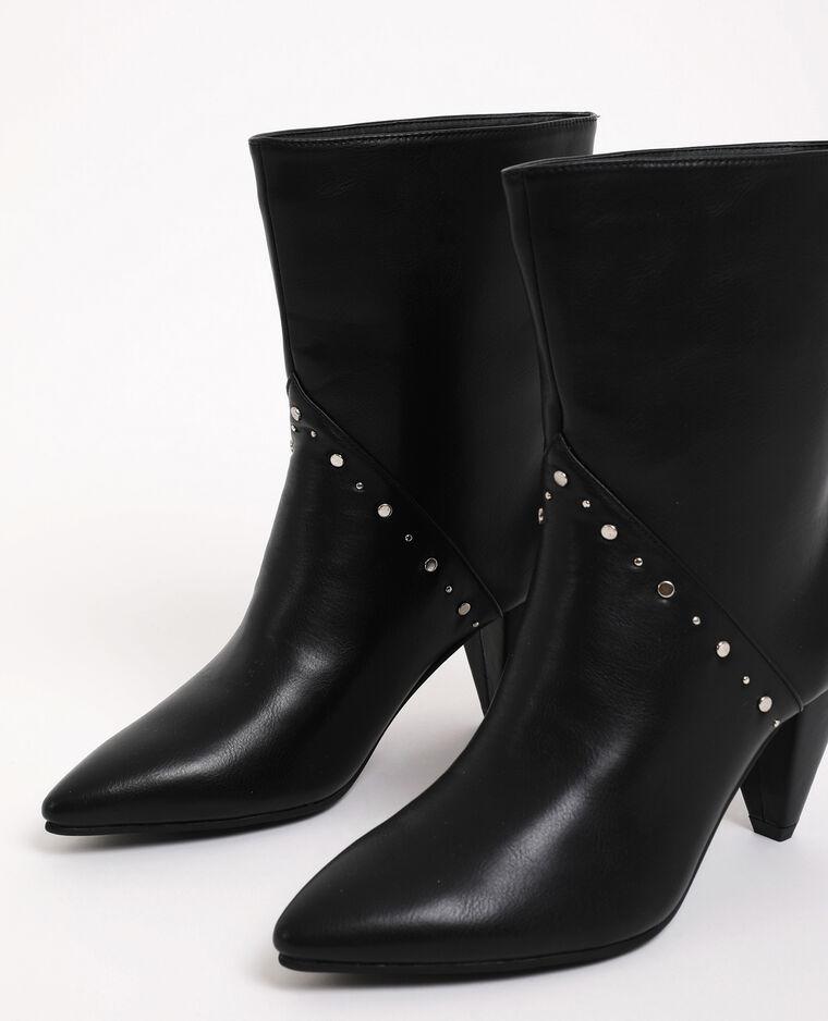 Boots met studs zwart - Pimkie