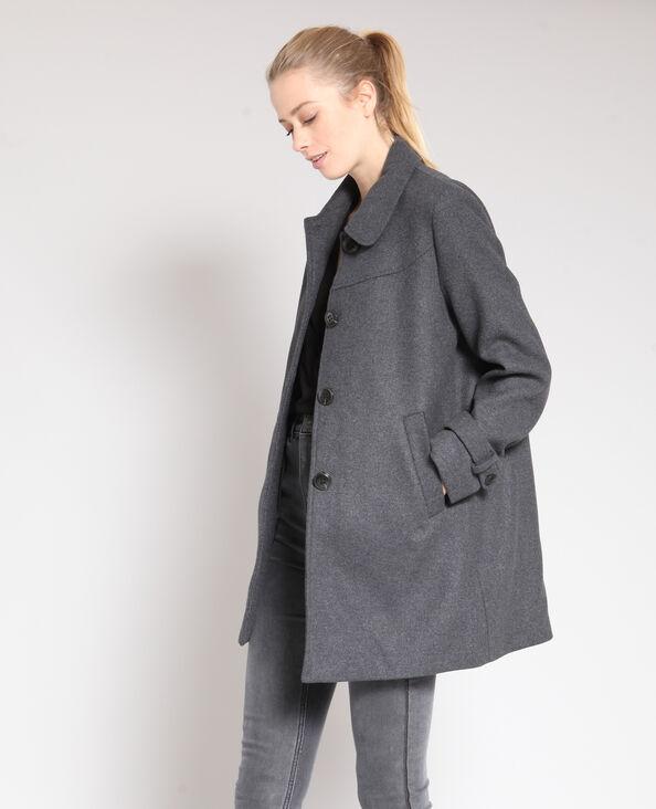 Manteau mi-long gris