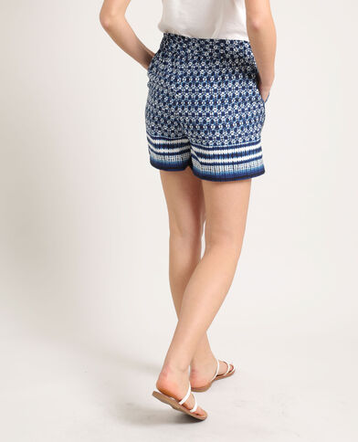 Tie-dye short blauw
