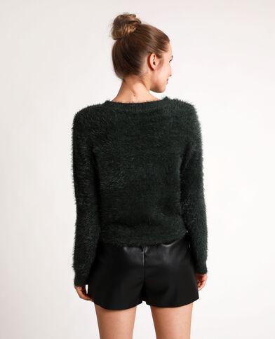 Fluffy trui groen