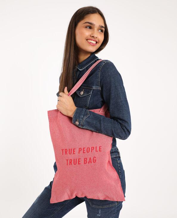 Petit tote bag 100% recyclé rose