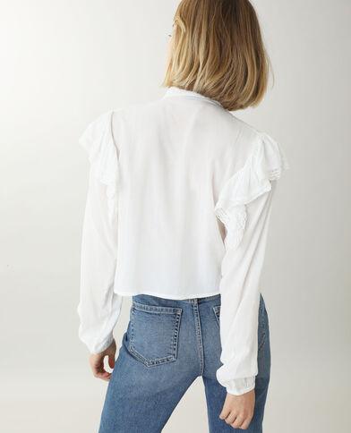Tunique courte blanc cassé