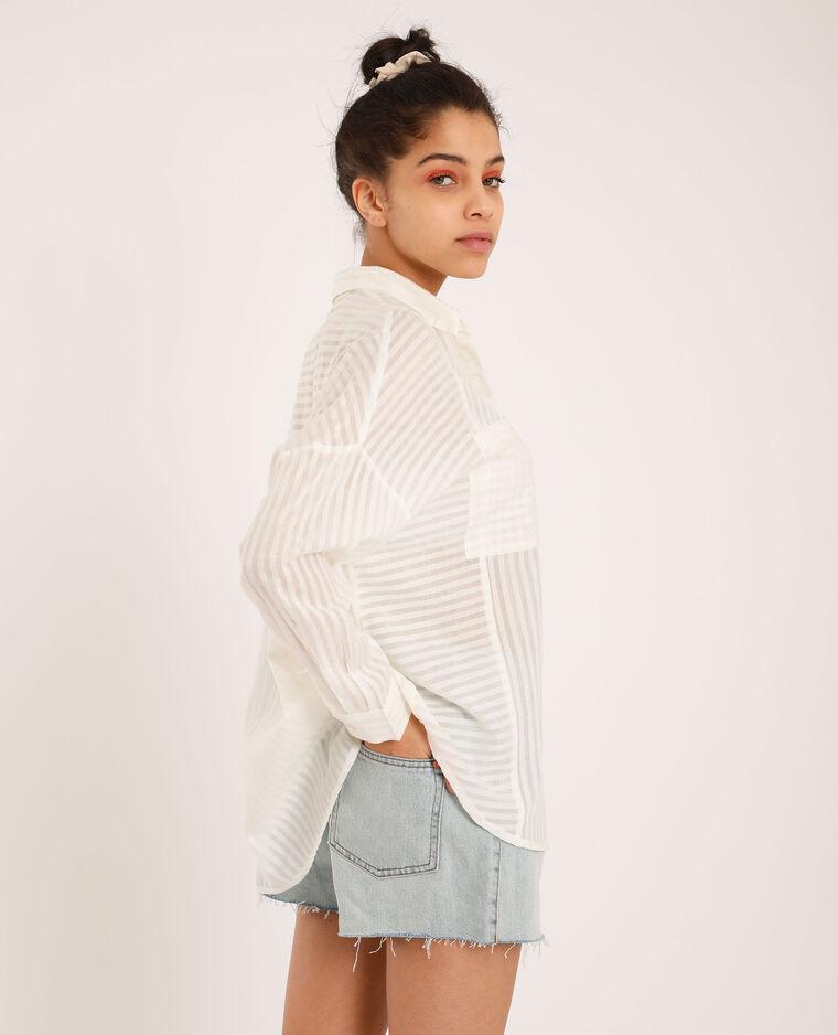 Ruim hemd wit