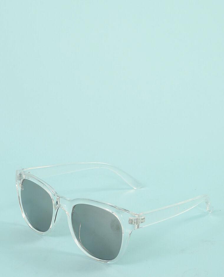 Lunettes de soleil transparentes blanc - 902547900A09   Pimkie 45dbbc54cc5f