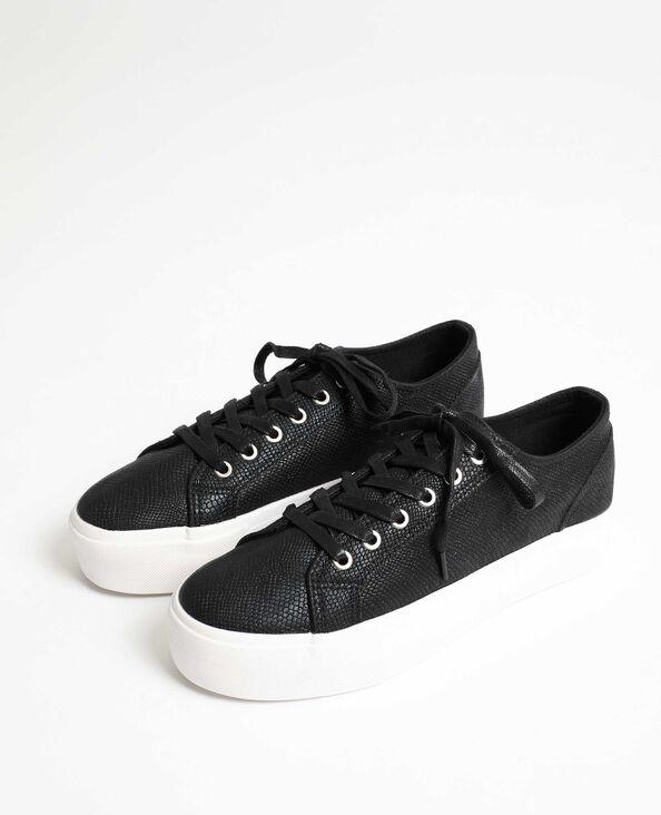 Gymschoenen met kroko-effect zwart