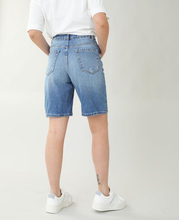 Jeansbermuda met hoge taille denimblauw