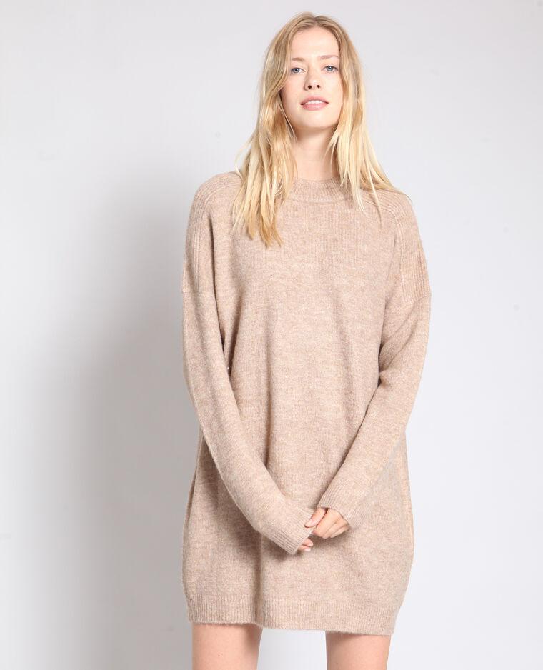 Robe pull beige sable -40% - 780910786A07   Pimkie 51002f11b440