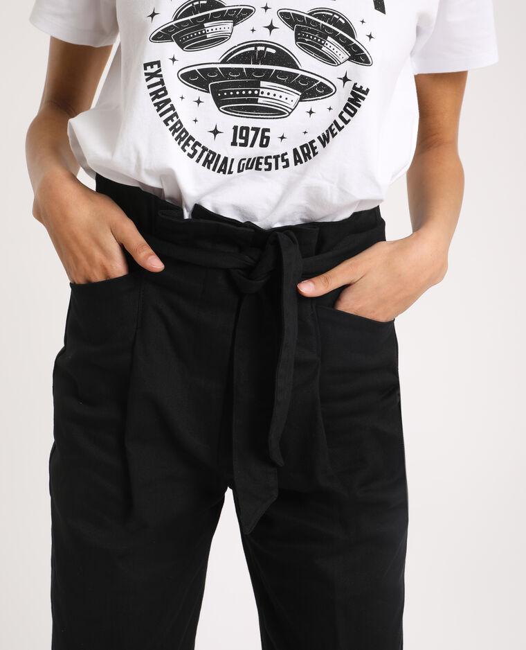 Pantalon carotte noir - Pimkie