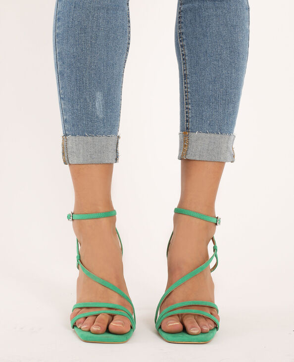 Sandalen met hakken groen