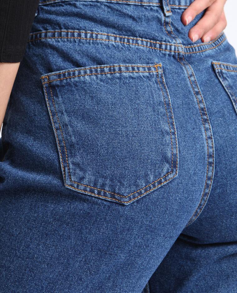 Jean taille haute bleu brut