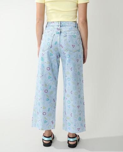 Wide leg jeans met hoge taille Lichtblauw - Pimkie