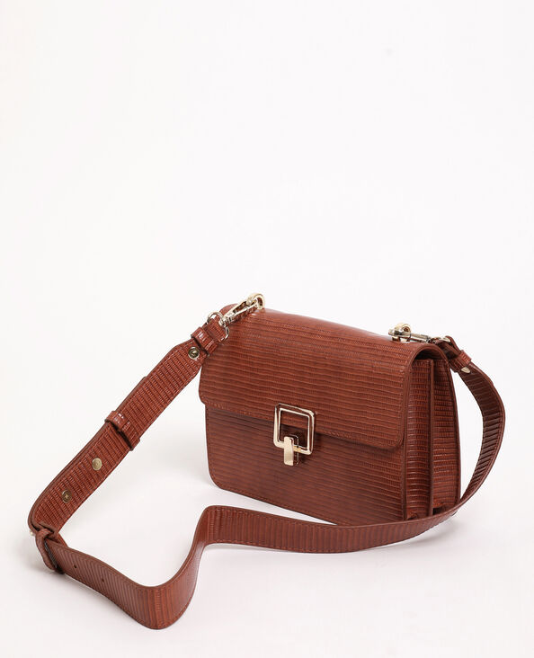 Sac boxy marron