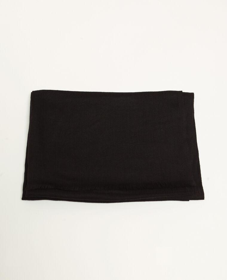 Foulard uni noir
