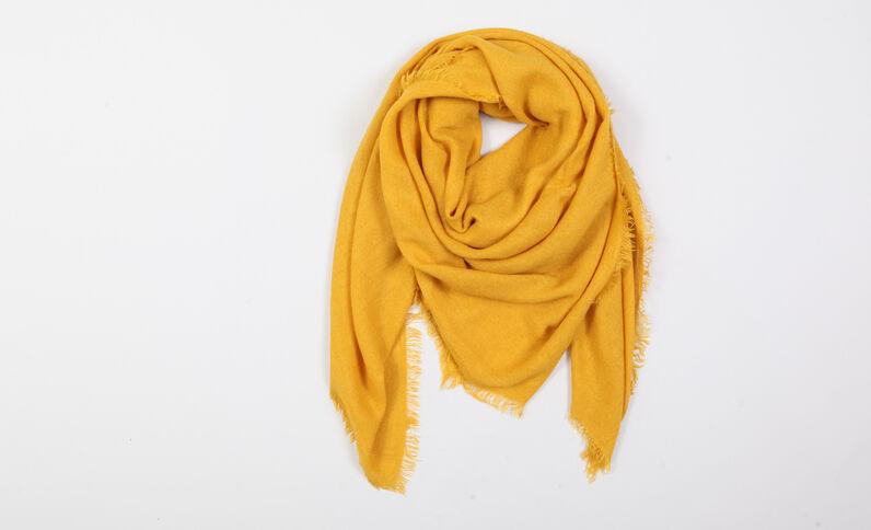 Foulard fin jaune