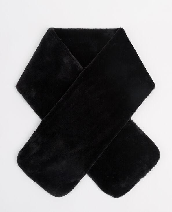 Sjaal van nepbont zwart