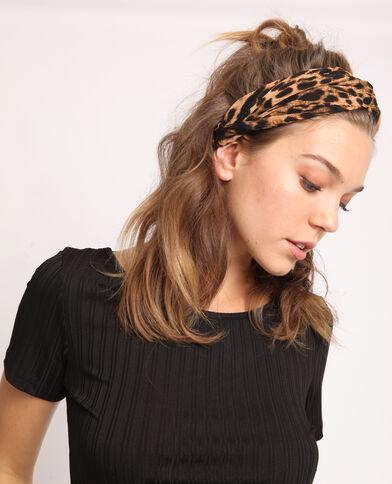 Haarband met luipaardprint kastanjebruin
