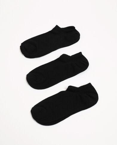 Lot de chaussettes basses noir