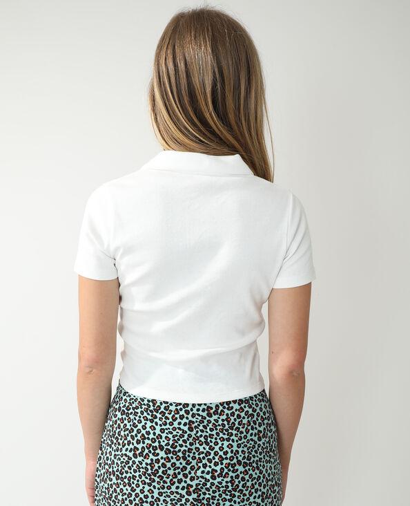 Polo zippé blanc - Pimkie