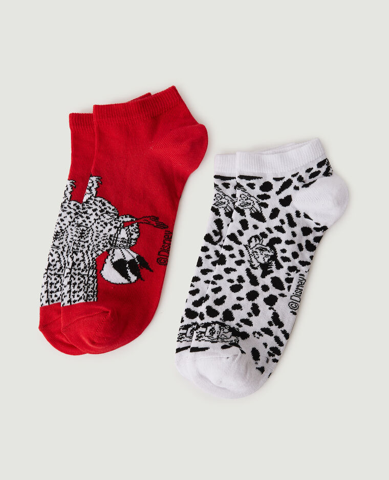 Set van 2 paar Cruella-sokken wit - Pimkie